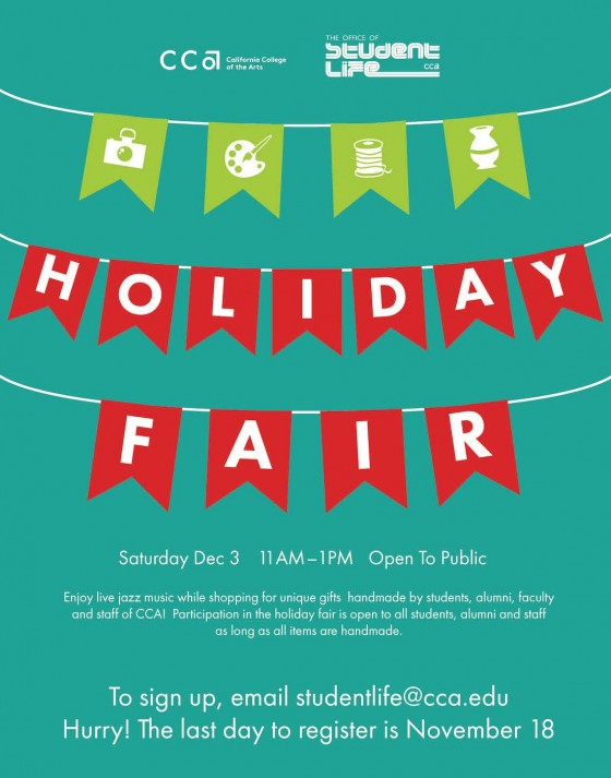 Come out and get some cool holiday stuff! I'll be vending, handmade totes, wines, books, prints, and lots more!    OAKLAND CAMPUS    5212 Broadway  510.594.3600