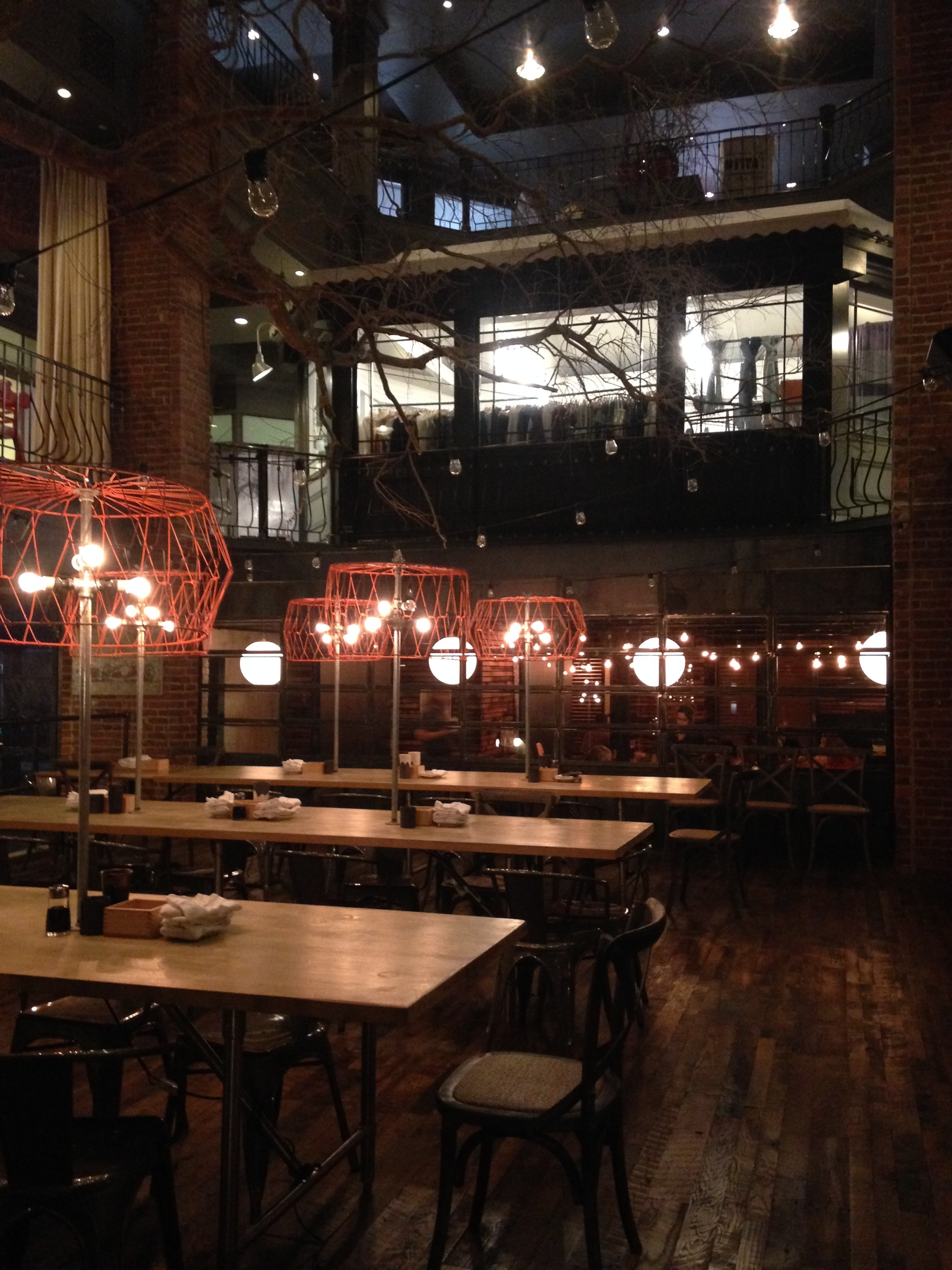 Two Ten Jack in Warehouse Row.  Such a beautiful space, and delicious food!