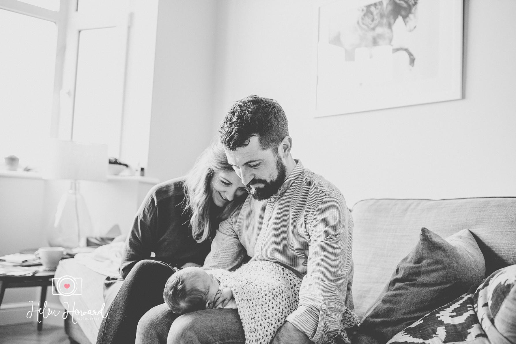 A family portrait newborn photographer in Lichfield