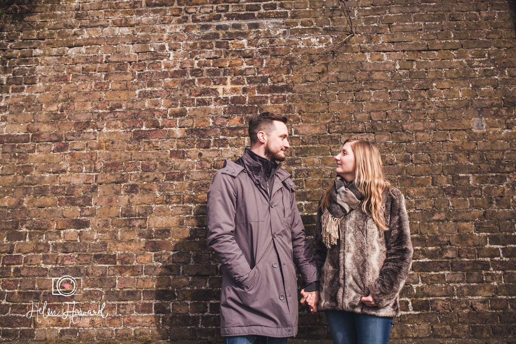 Couple standing in front of Berkhamsted Train Station