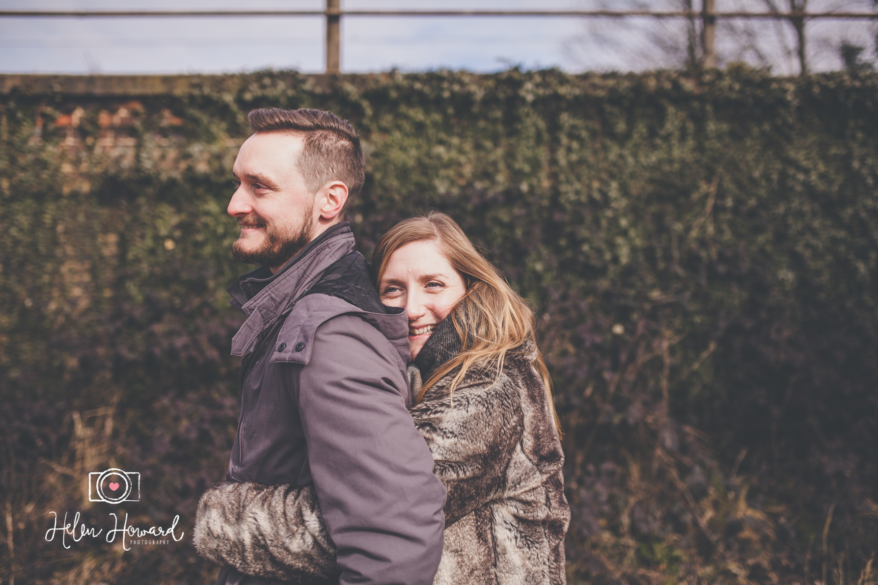 Image of a couple having an engagement portrait session in Berkhamsted