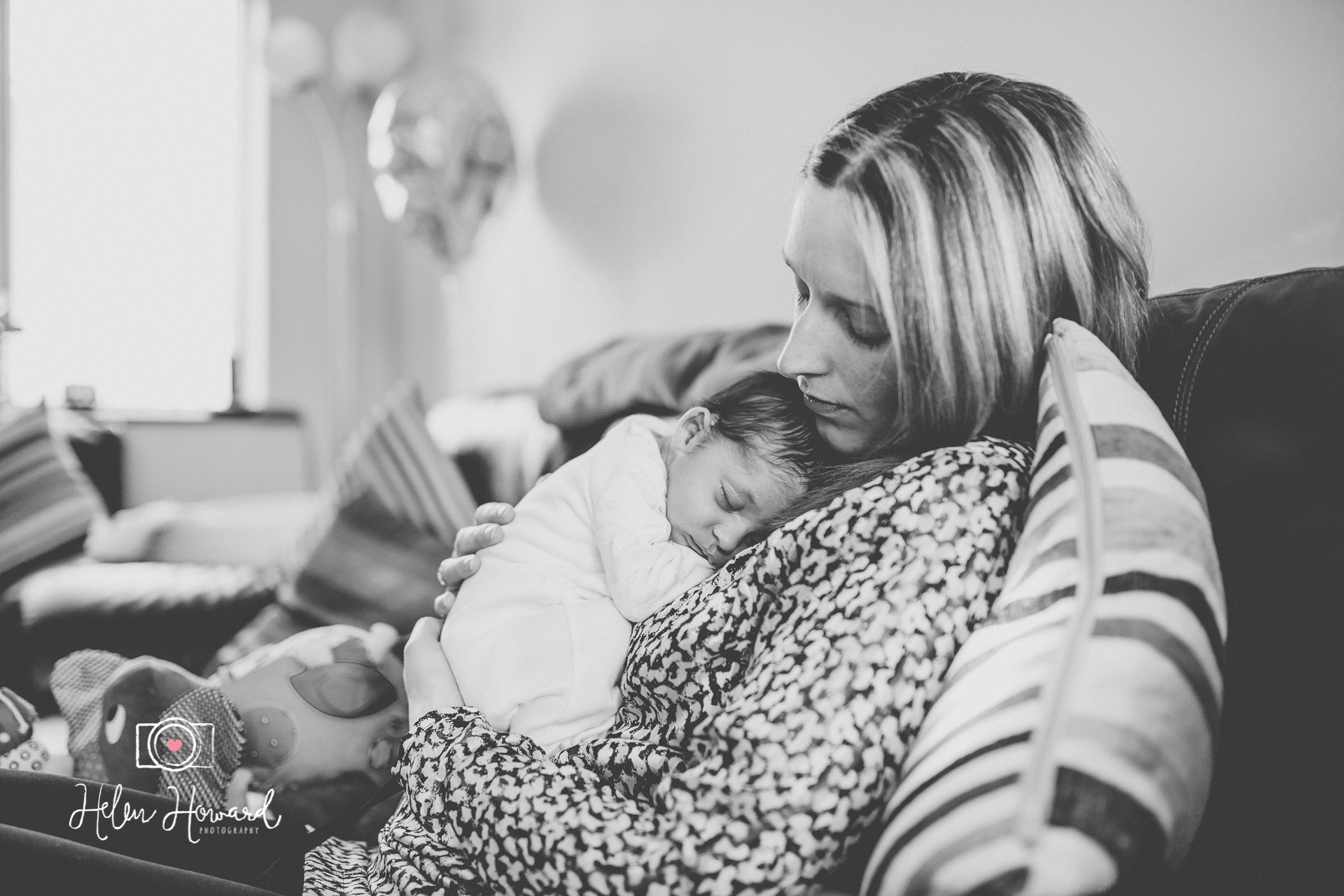 Mother and baby - Sleepy newborn photography west midlands