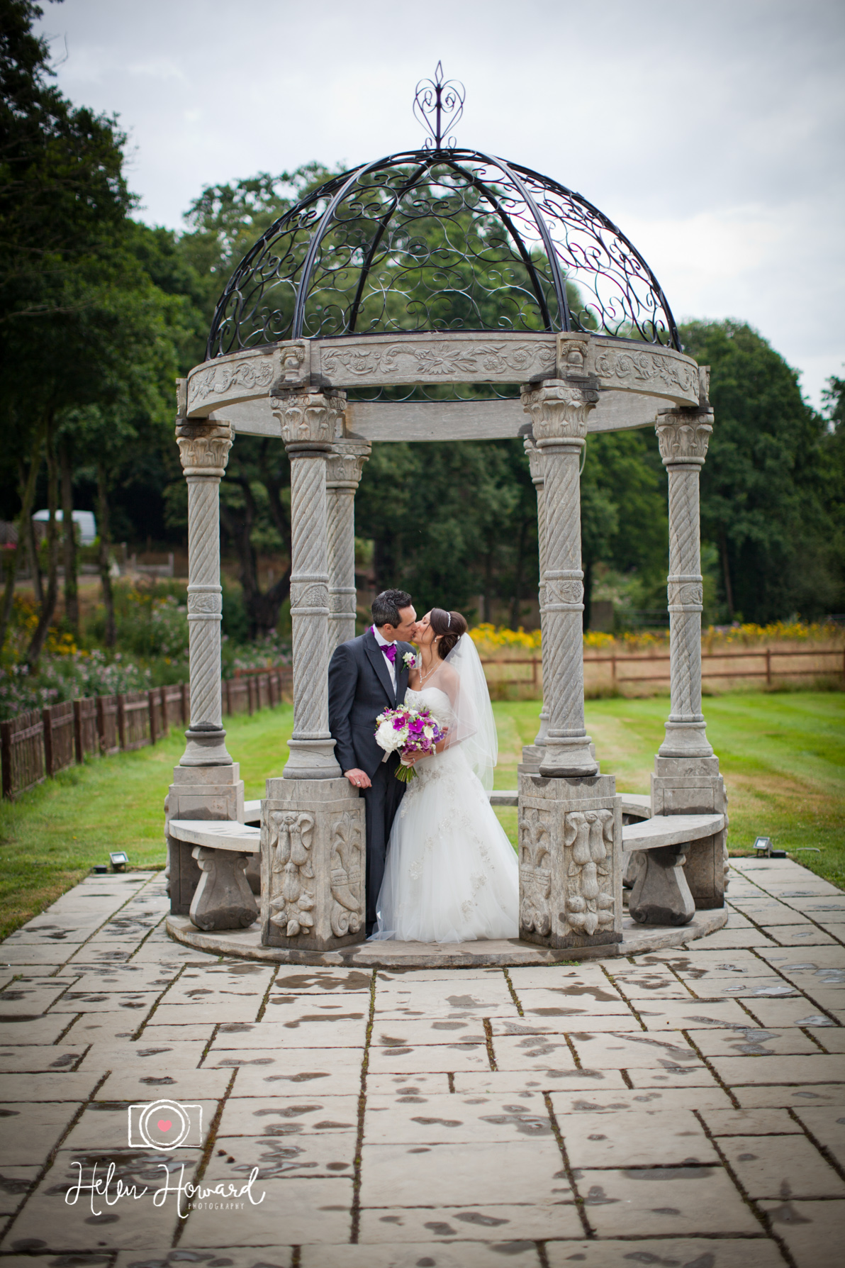 Bride and Groom at the Old School House in Weeford