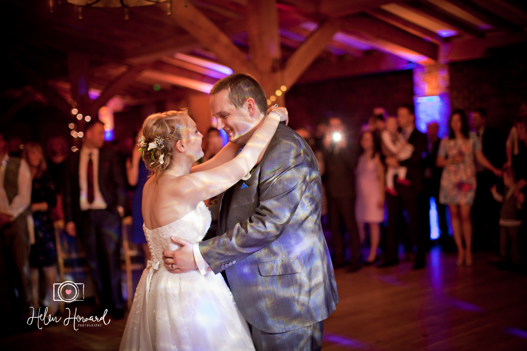 Bride and Groom's first dance at PAckington Moor wedding photography in Staffordshire
