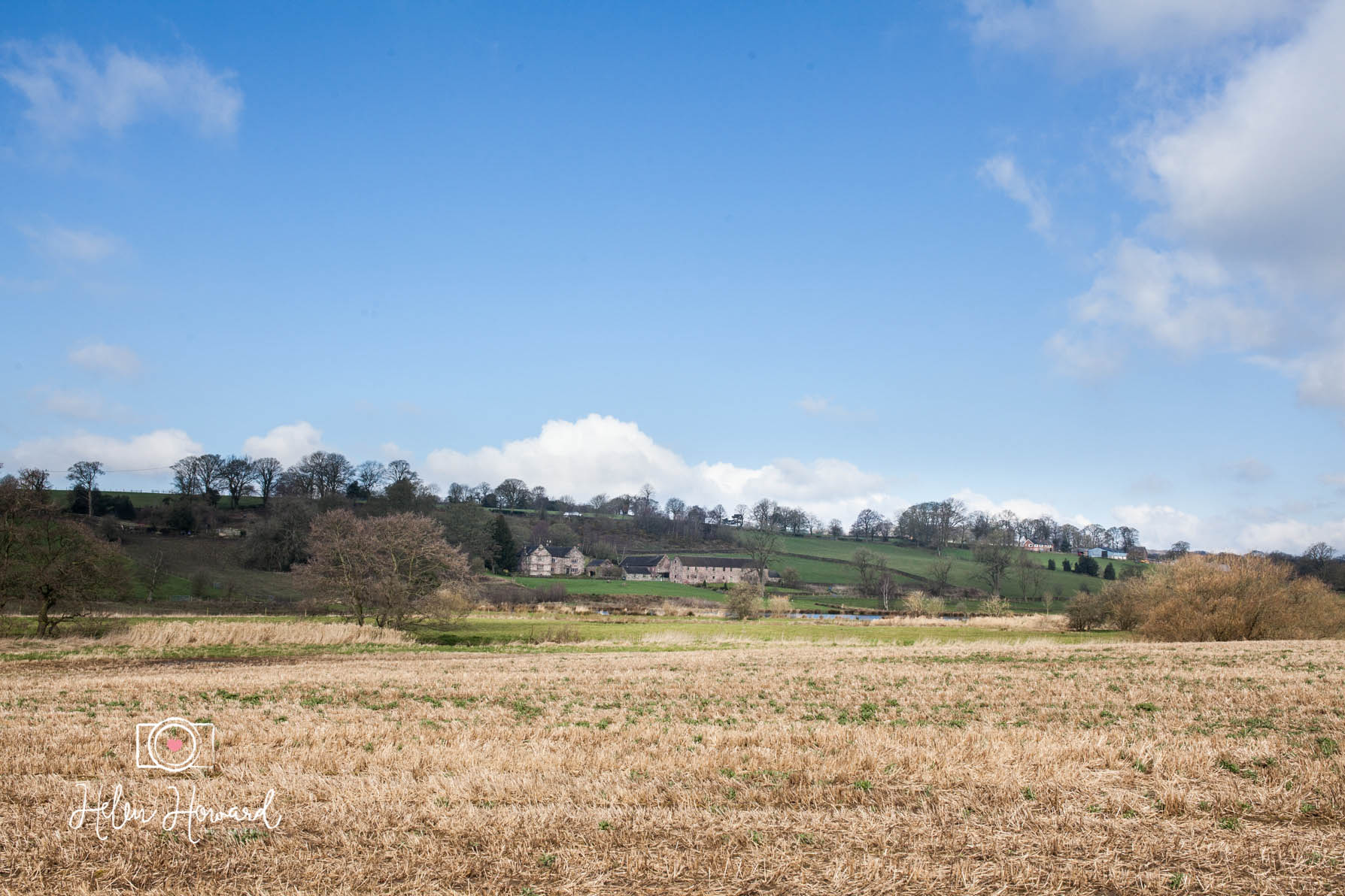 View across the fields to The Ashes No Corkage Country House Venue