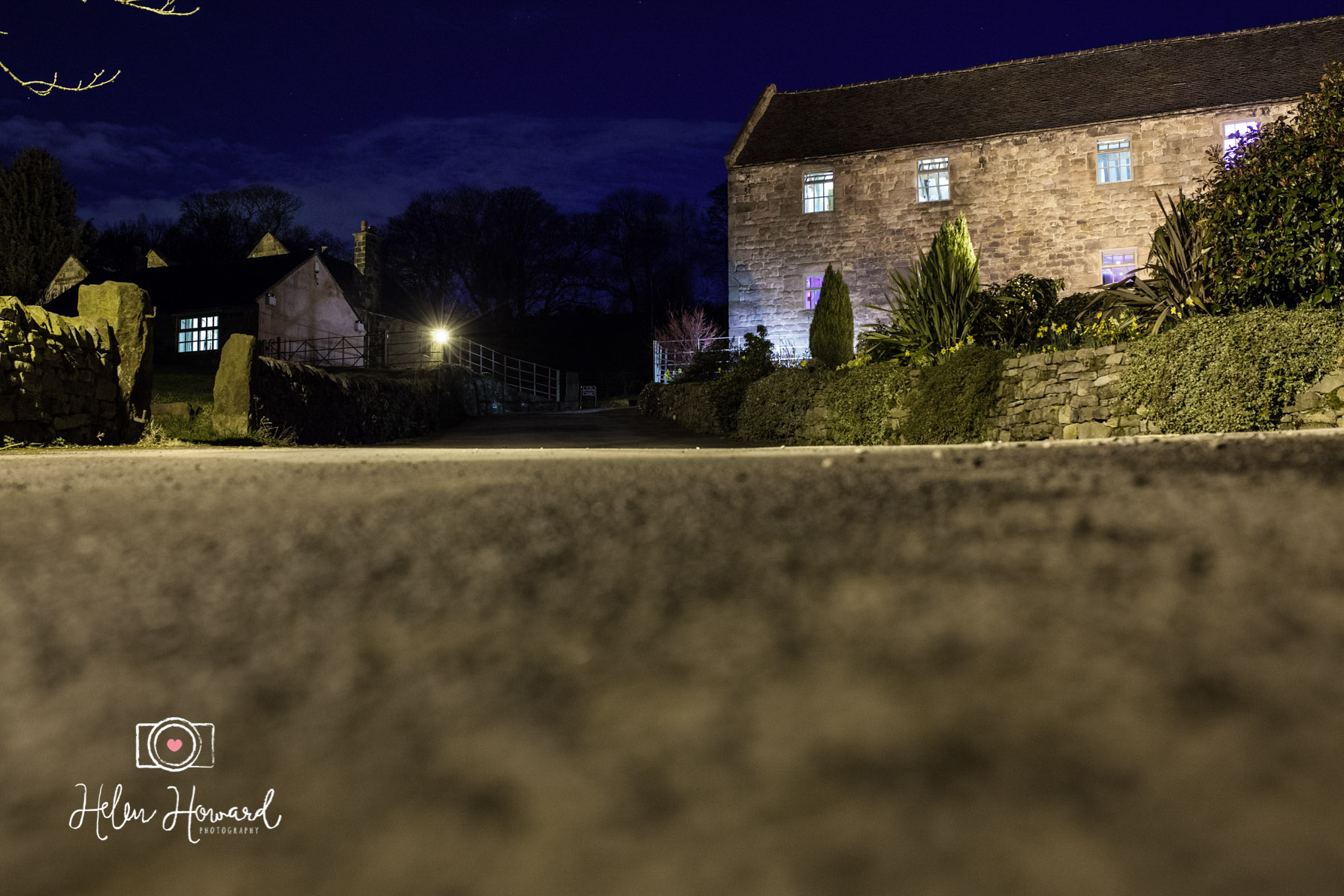 Night time shot of The Ashes in Endon