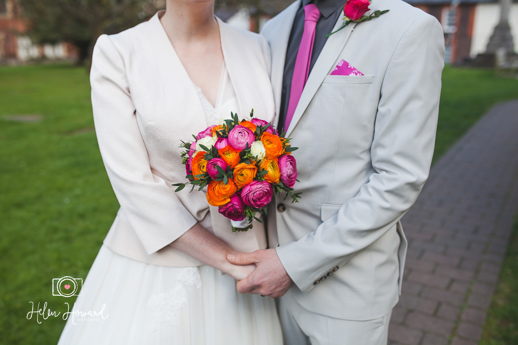 Bride and Groom Pink and Orange Flowers-1.jpg