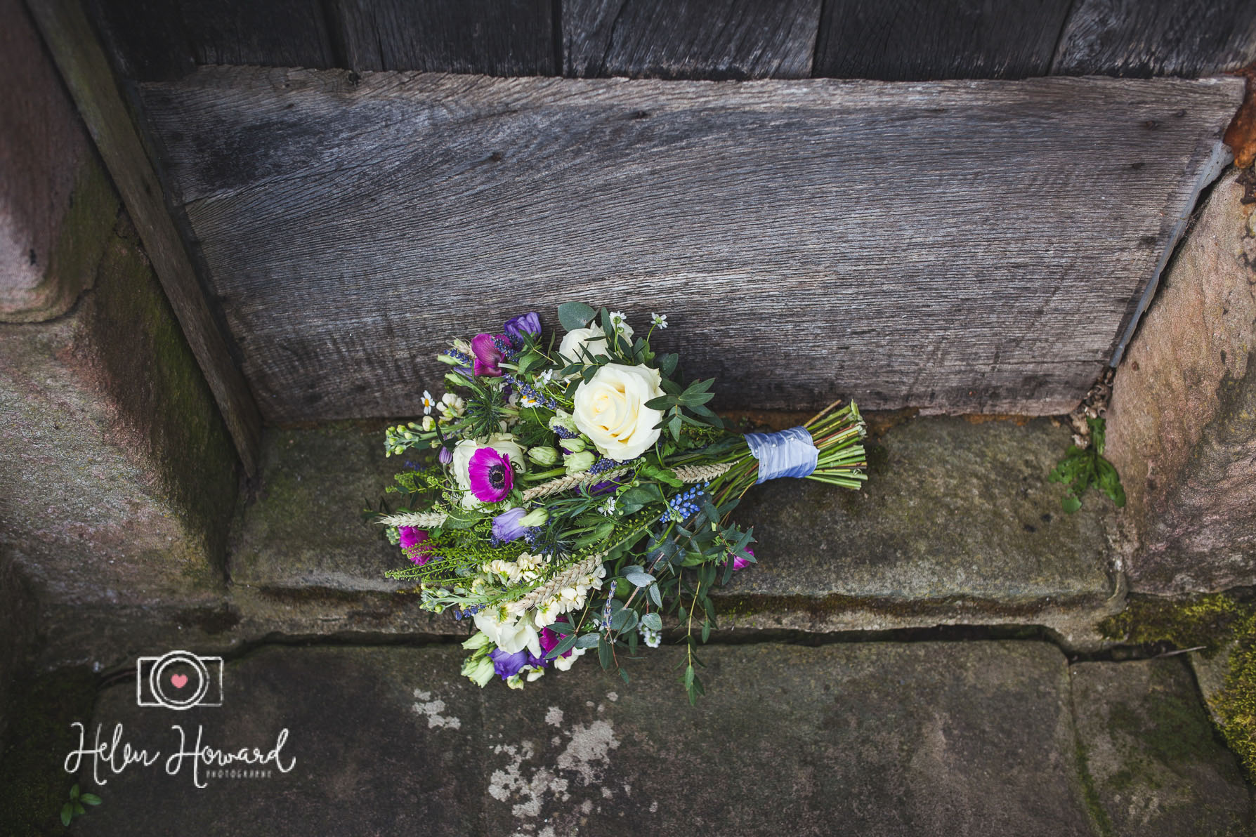 Bouquet of hand tied wedding flowers