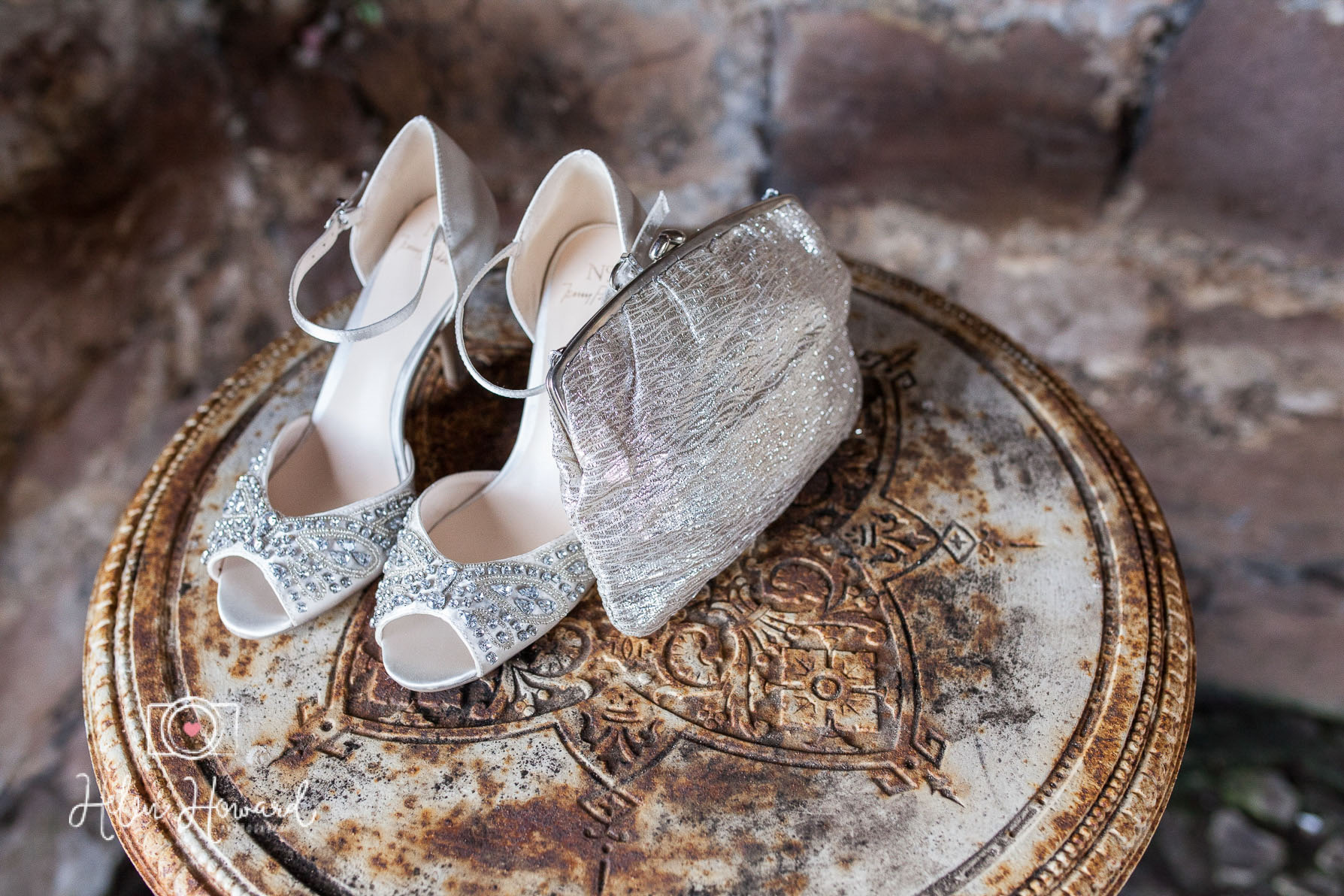 The Brides shoes and her granny's purse