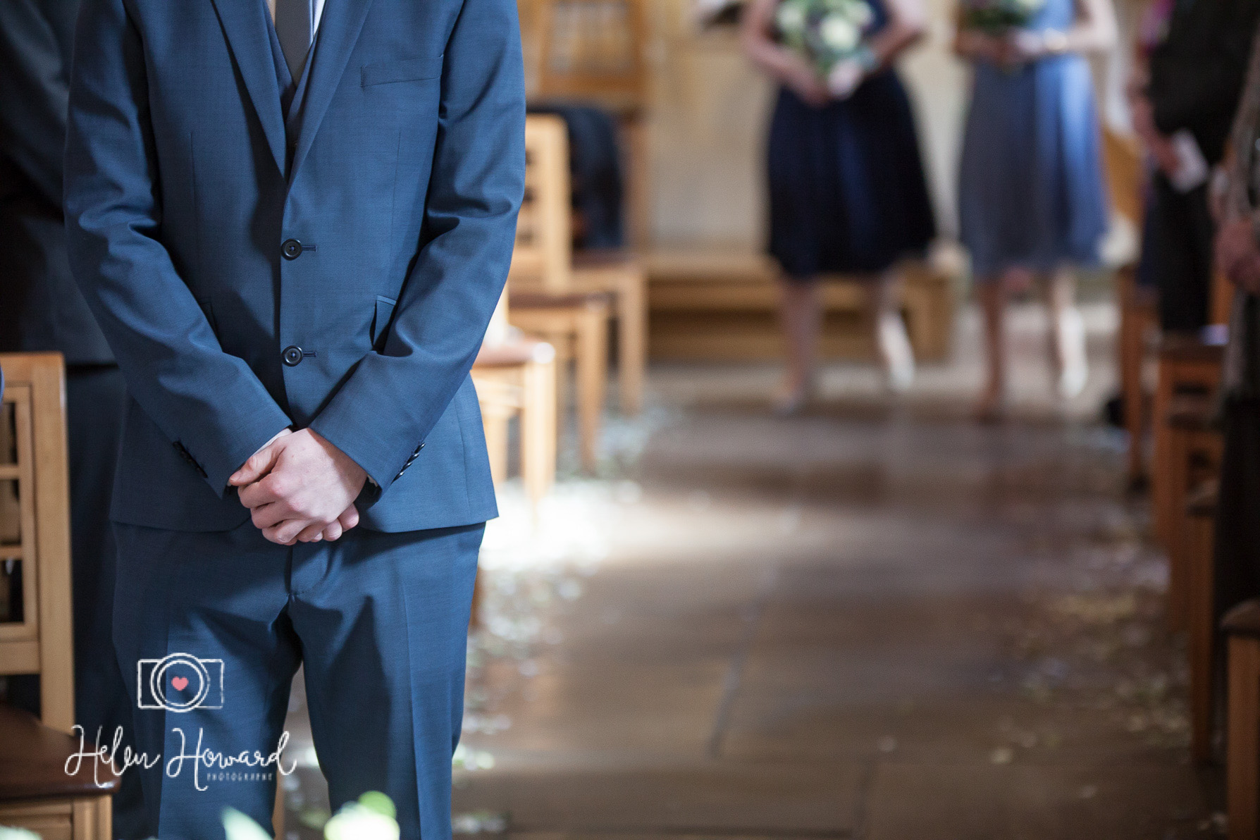 Image of a groom waiting
