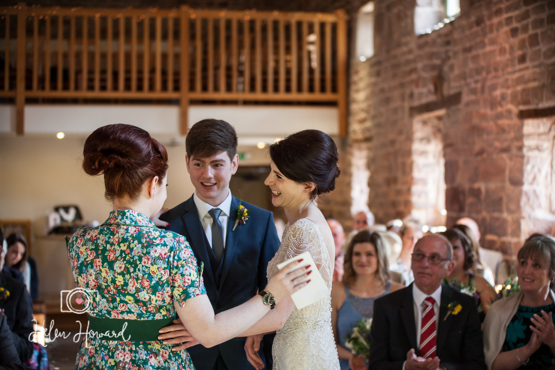 Bride and Groomthanking the Groom's sister for her reading