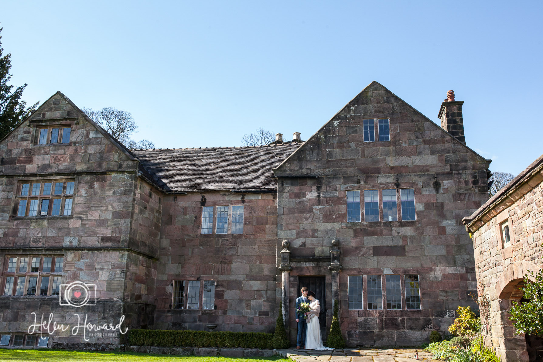 A bride and groom portrait at The Ashes in Endon