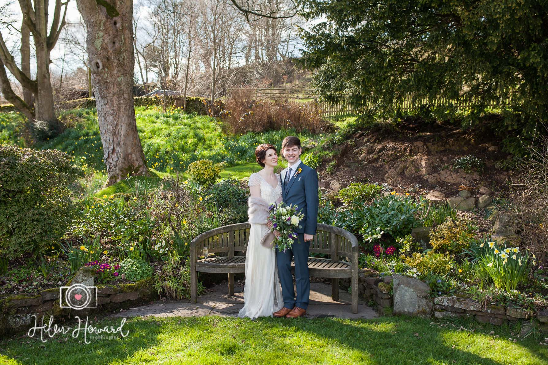 Bride and Groom just married in Staffordshire