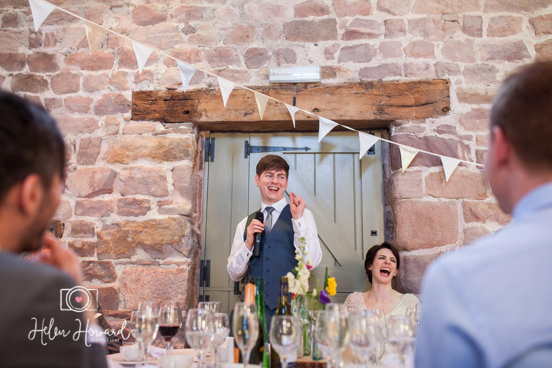 Groom's speech staffordshire wedding photographer