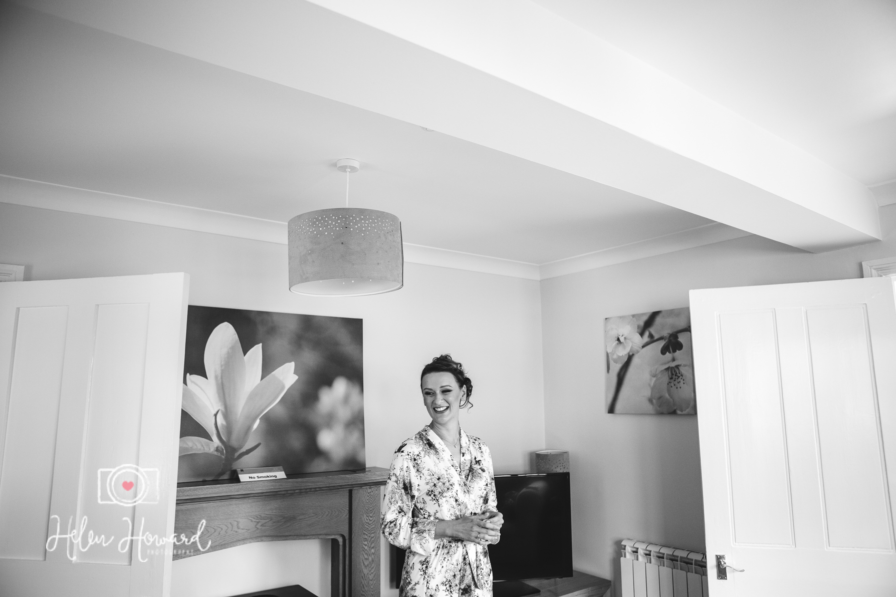 Bride getting ready at Pendrell Hall