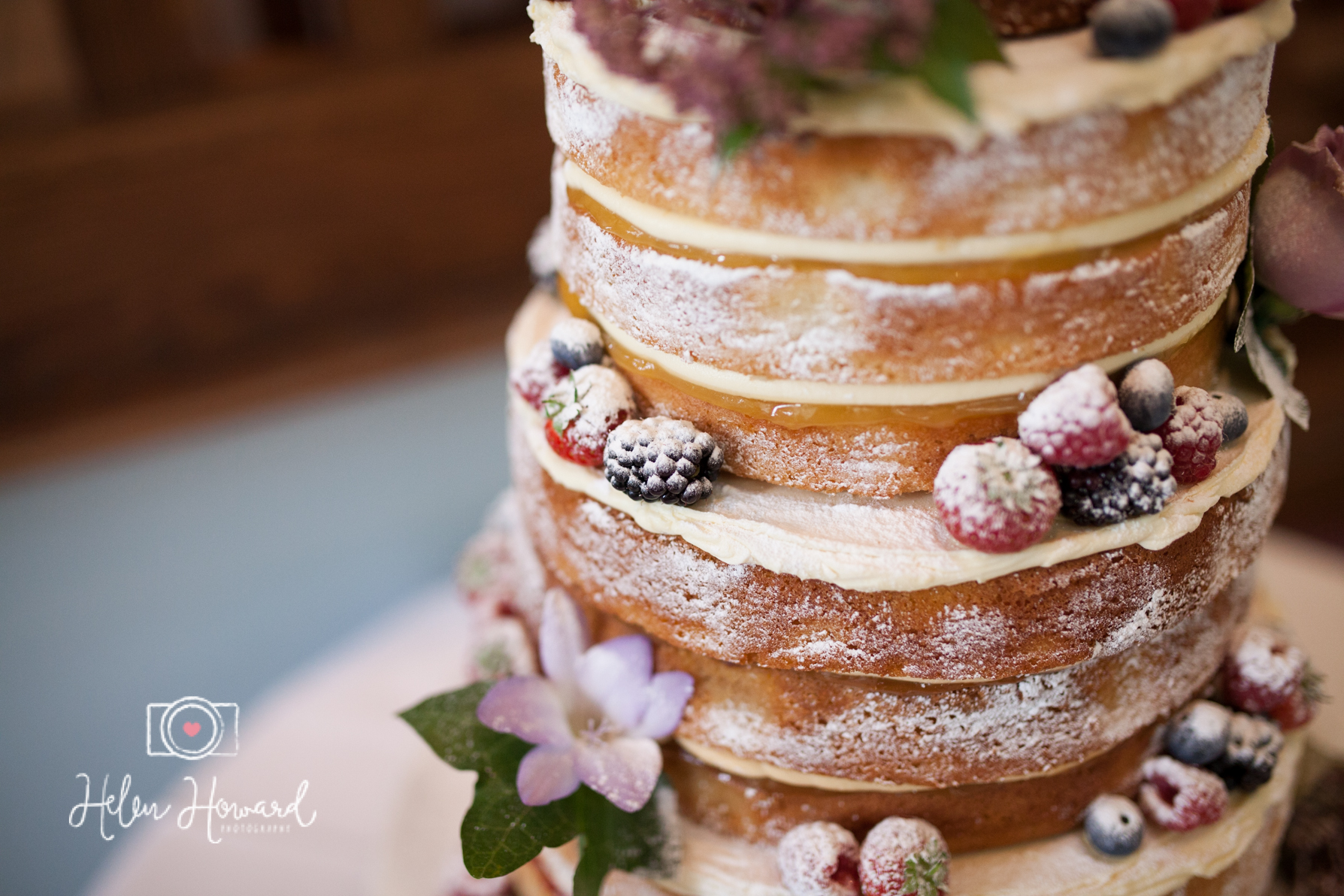 Naked Cake Bride and Groom Wedding Photography at Pendrell Hall