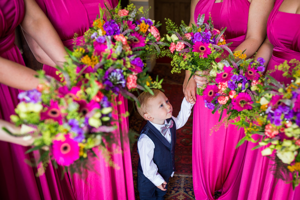 Page boy and Bridesmaids at Packington Moor Barn