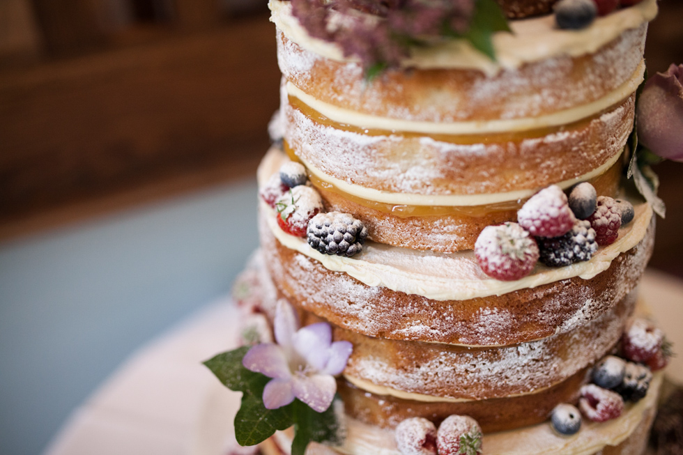 Nude Wedding Cake at Pendrell Hall