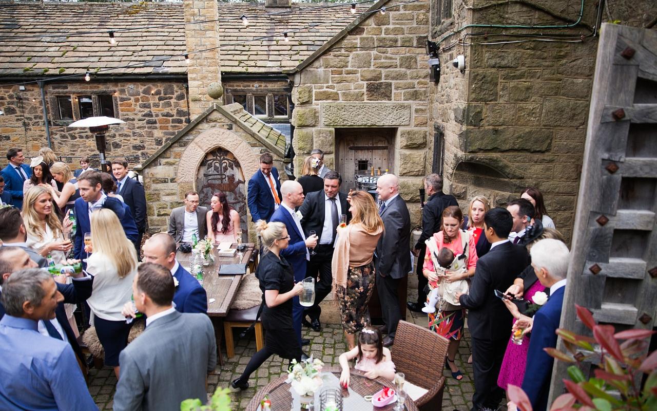 Courtyard Wedding Reception in Derbyshire