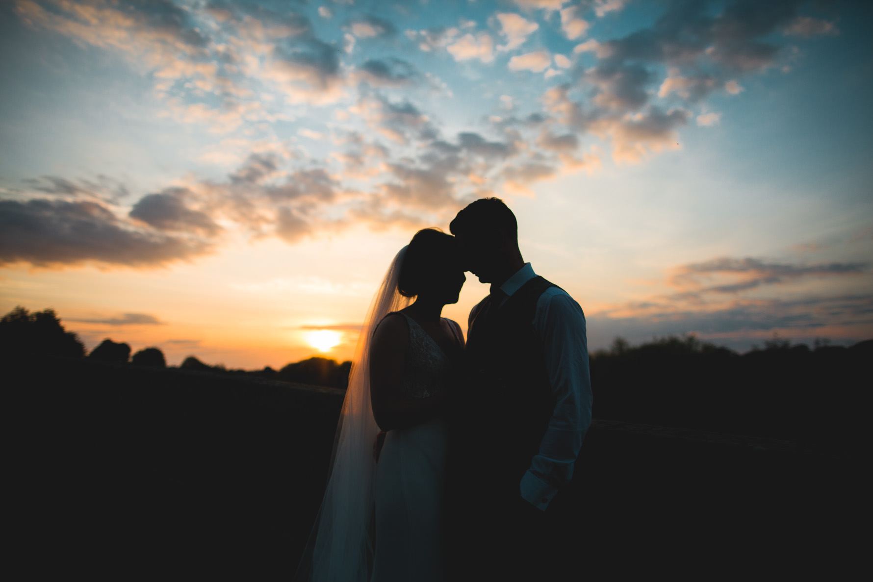 Sunset at The Mytton and Mermaid Shrewsbury Wedding Photographer