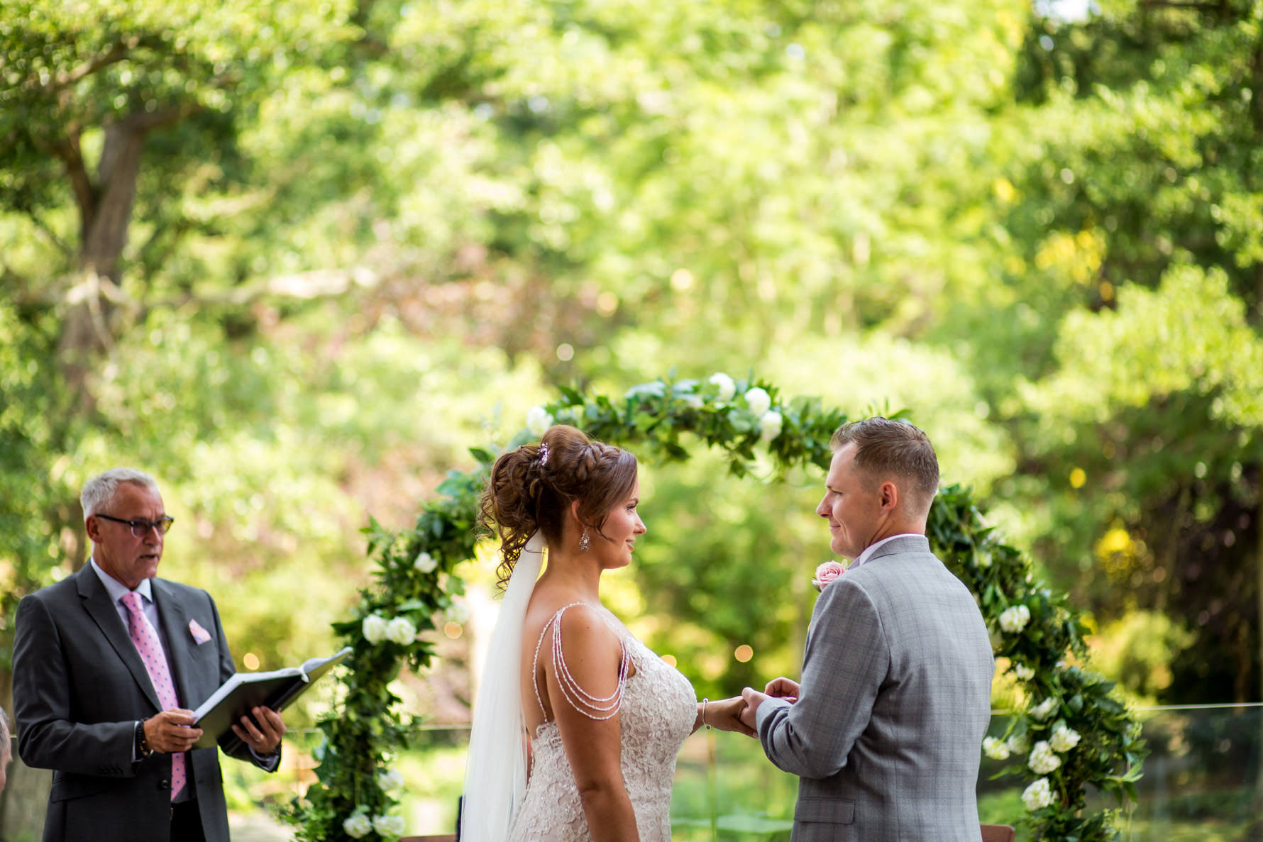Outdoor ceremony at the Mill Barns Wedding Photographer