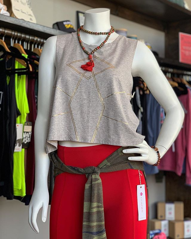 🔥Need something sexy yet comfortable to wear to Salsa Night on Saturday?! 🔥 We've got you covered! Check out our retail section the next time you're in the studio. 😍🙌 (styled by @lqfashionforever 🥰) #electricsoulyoga #humblewarrior #salsanight #yogafashion