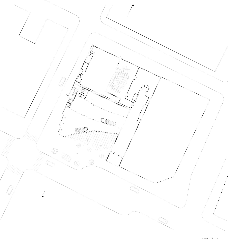 """1/16"""" = 1'     ground floor plan"""