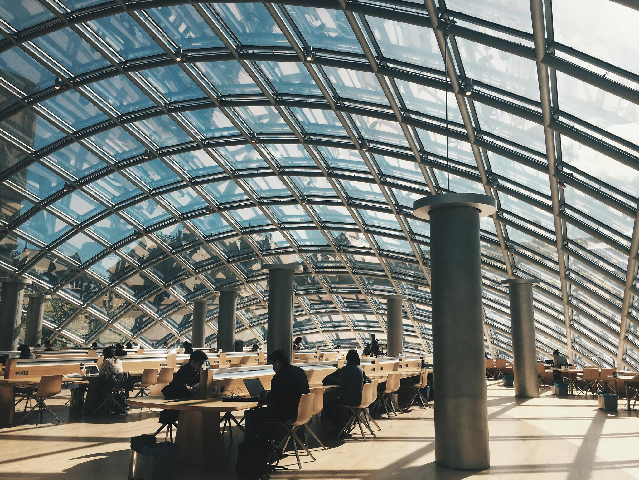 chicago, illinois   mansueto library by helmut jahn
