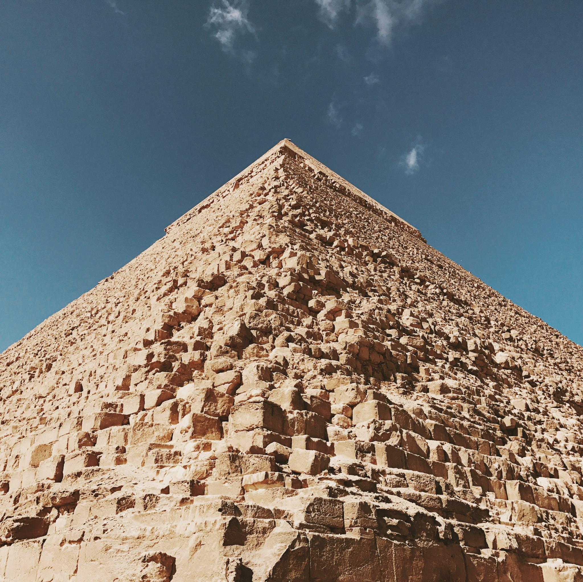 cairo, egypt   the great pyramids of giza