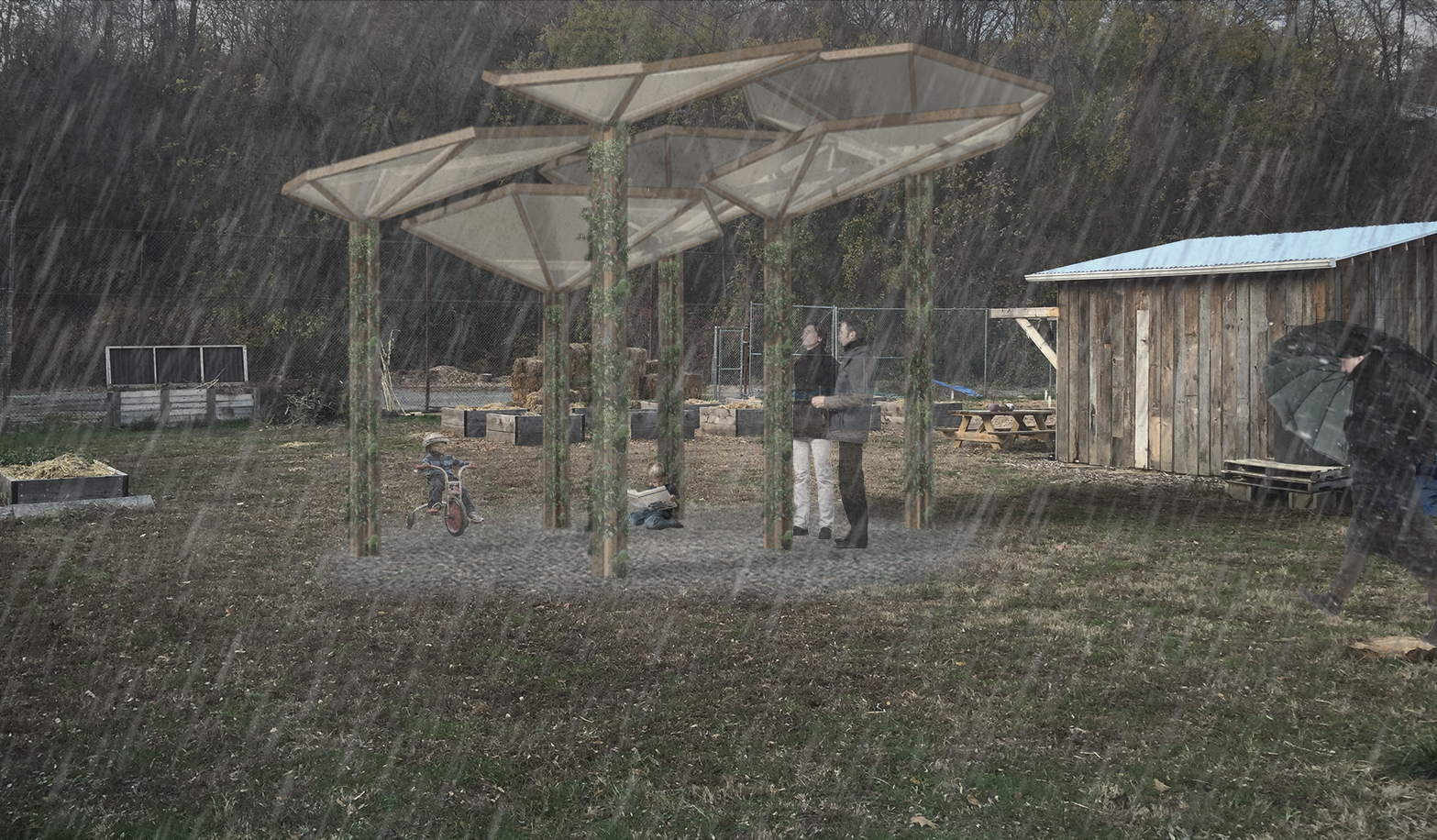 Aqua Pavilion   How can a low-cost modular system act as a learning tool?
