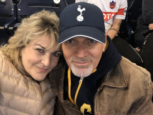 Celebrating my birthday at a Nashville Soccer Club match with my wife Jo-Leah on Saturday night