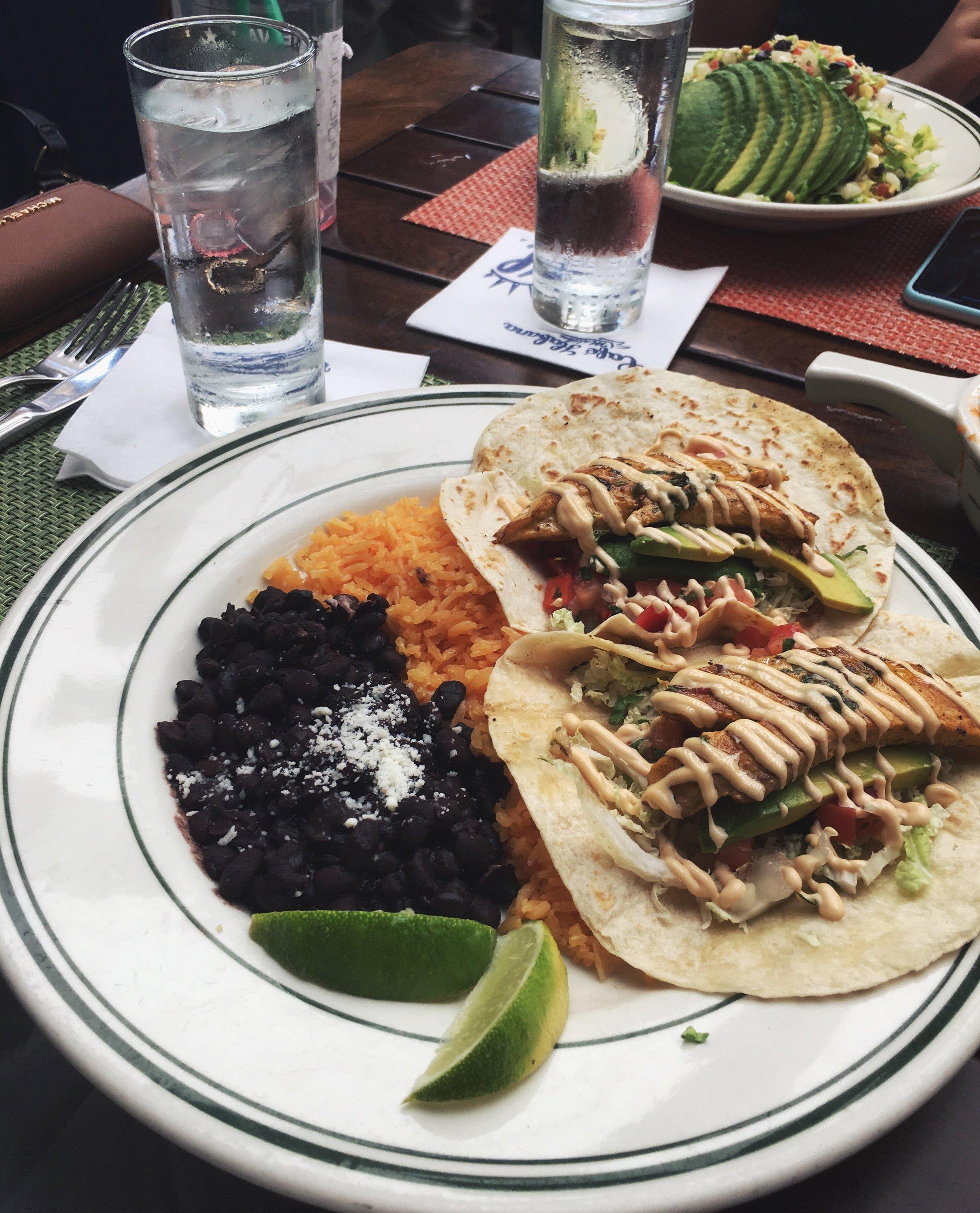 Pictured above: Mexican chicken fajitas at Bartaco