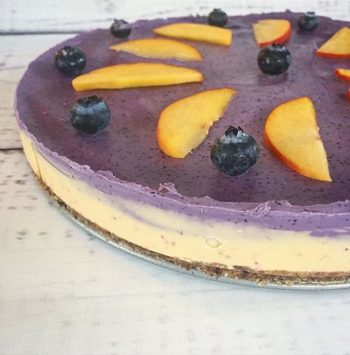 Luxurious, creamy, sweet, customizable, and seriously amazing! This one is blueberry peach flavor!