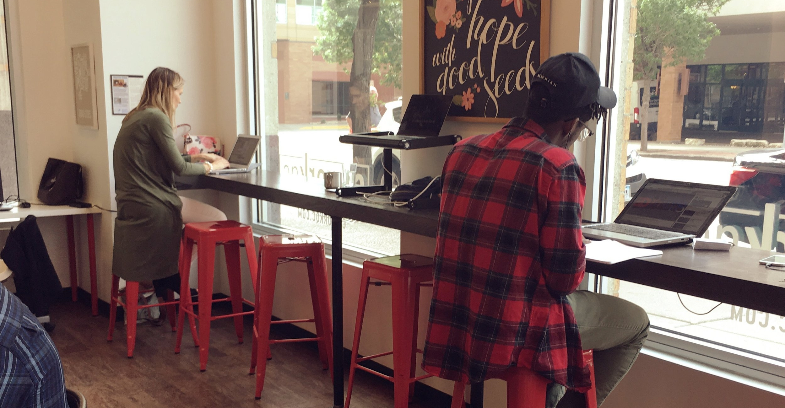 OPEN COWORKING - Grab your laptop and find a seat. Enjoy complimentary coffee and snacks, fast wi-fi and get to know your coworkers in our open coworking space.Schedule a drop-in day