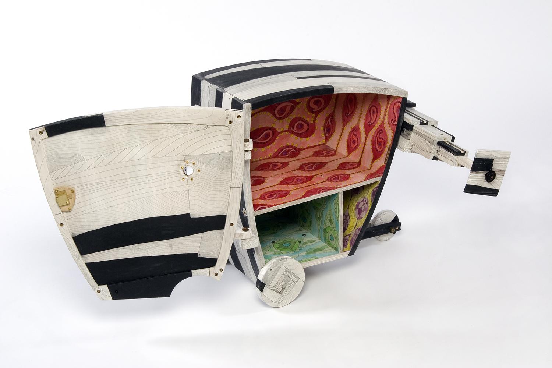 Cabinet With Sidecar, 2007 (door open)
