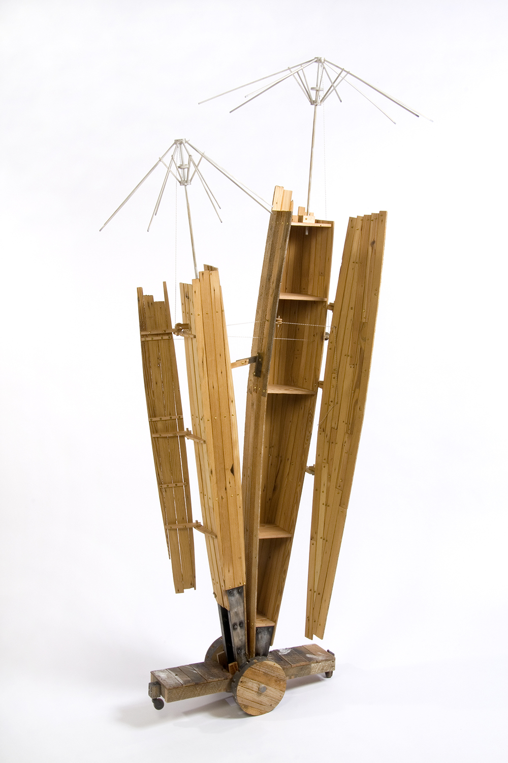 Symbiosis #2: Pair of Cabinets, 2009 (doors and umbrella structures open)