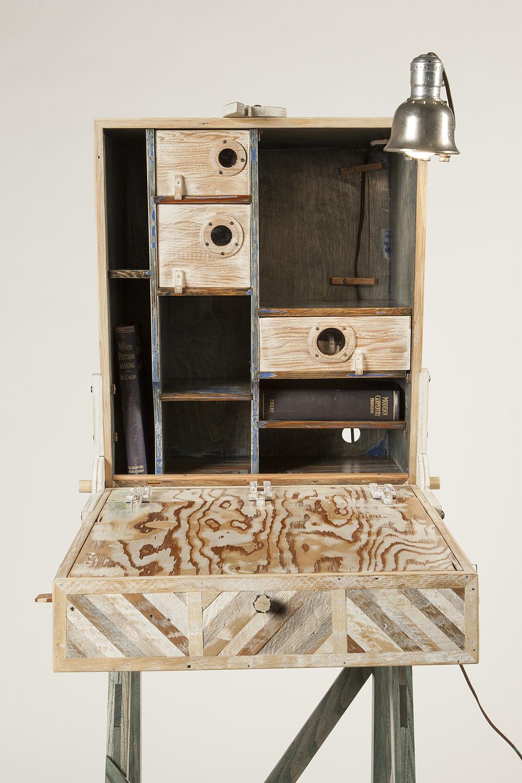A Cataloger's Desk, 2014 (desk open)
