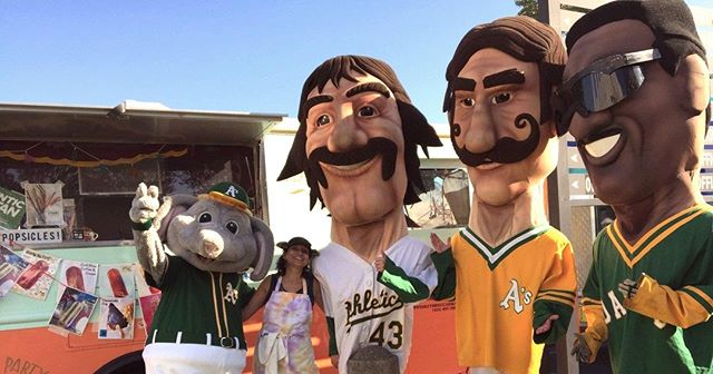We had so much fun with the gang at the #oakland A's games!       #Popsicles #FoodTruck #Fairfax #MarinCounty #Organic #healthy #paleta #helado #yummy #privateevents #weddings #popsiclecart #parties #poolparties #novato #farmersmarket #fresh  #snacks #sananselmo #millvalley #oakland #berkeley #handcrafted #baseball