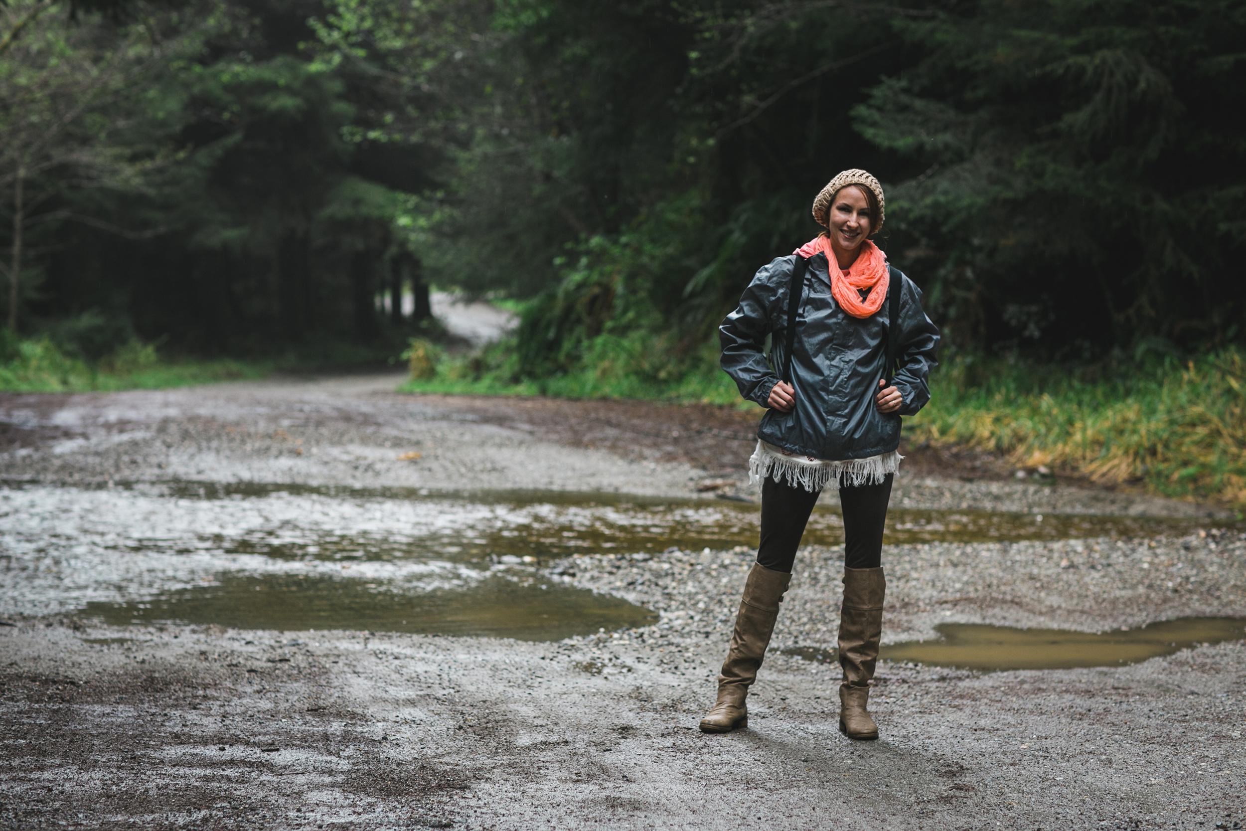 The beautiful Kristin Jordan on the Road to Fern Canyon - Orick, CA