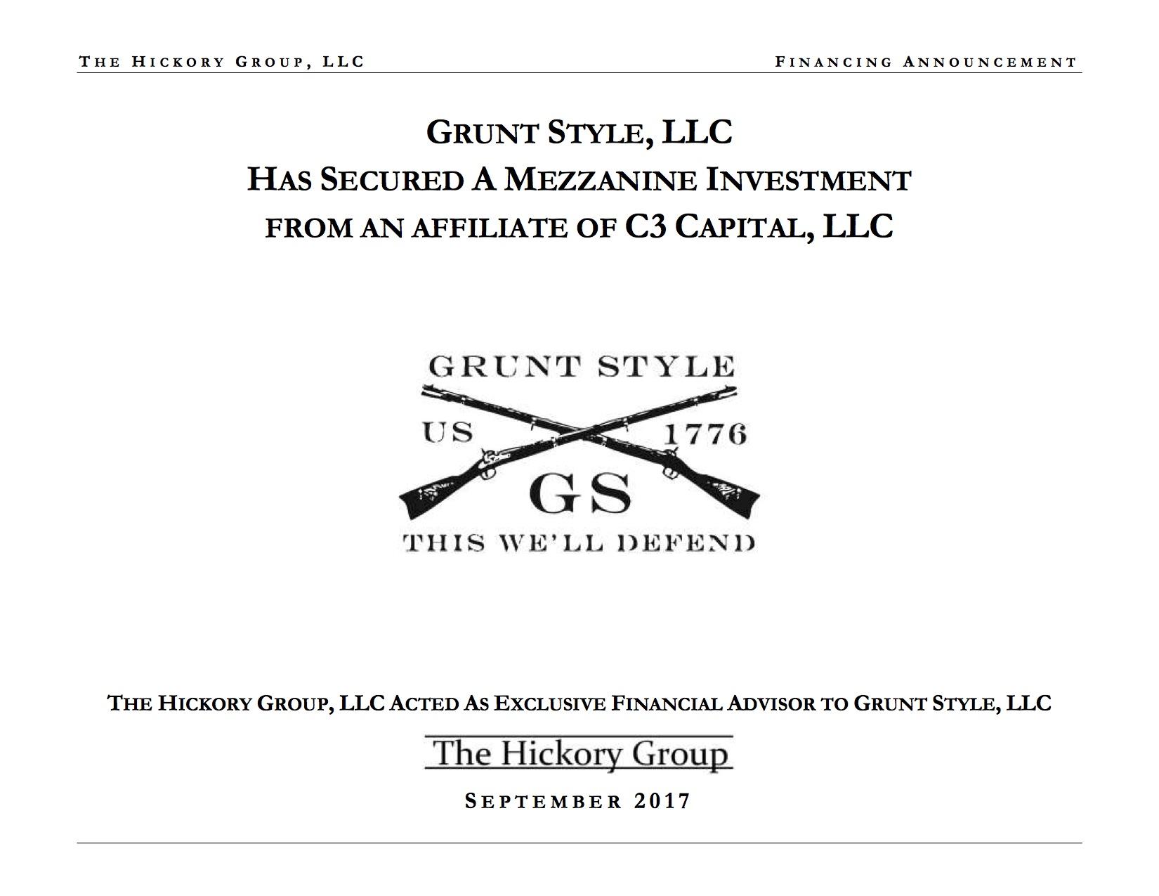 Grunt Style - Hickory Mezzanine  Announcement (September 2017) General Distribution.jpg