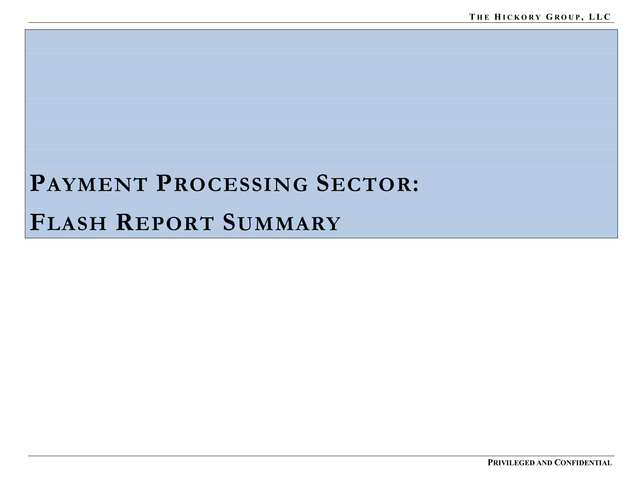 FINAL_THG FinTech Industry - Payment Processing Sector Flash Report (27 March 2019) Privileged & Confidential-03.jpg