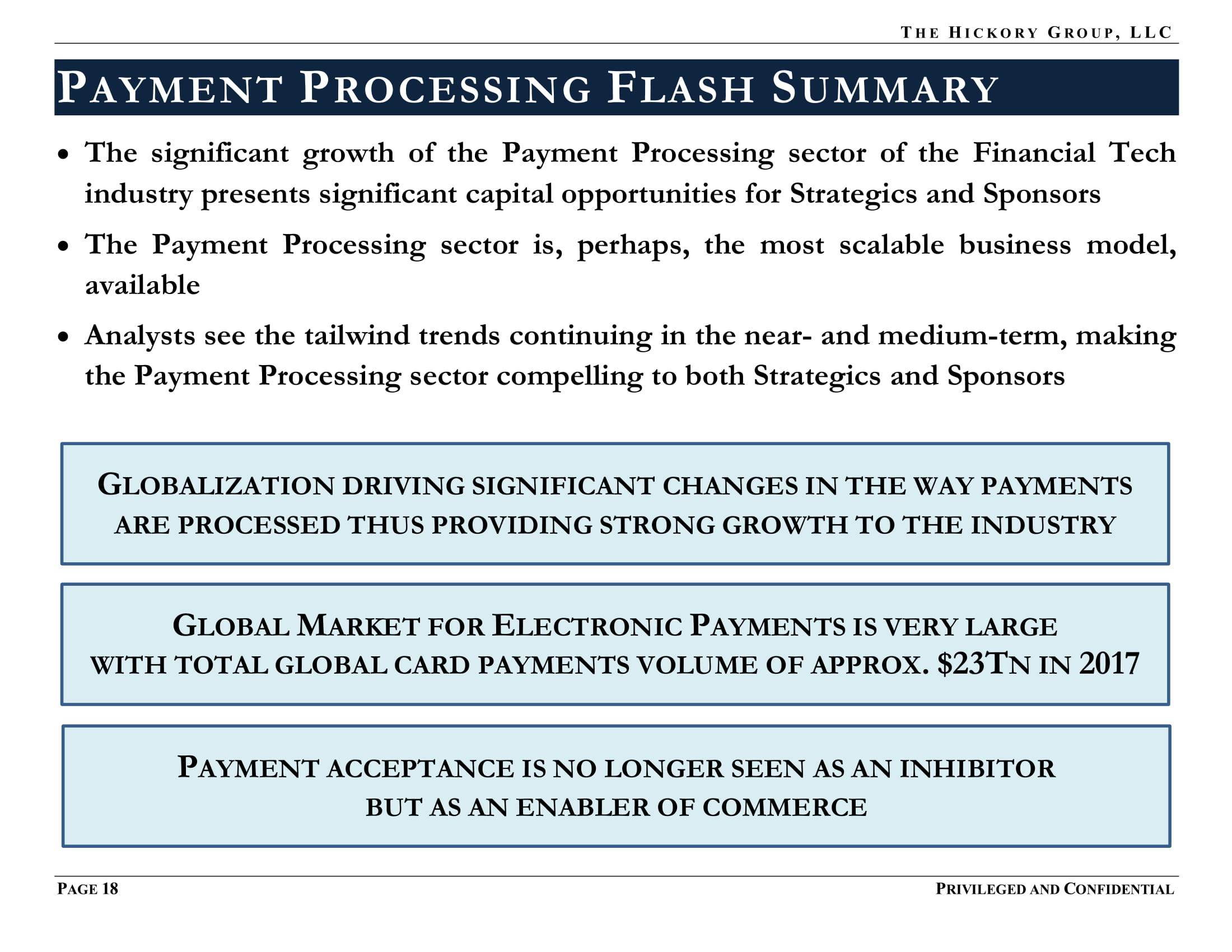 FINAL_THG FinTech Industry - Payment Processing Sector Flash Report (27 March 2019) Privileged & Confidential-26.jpg
