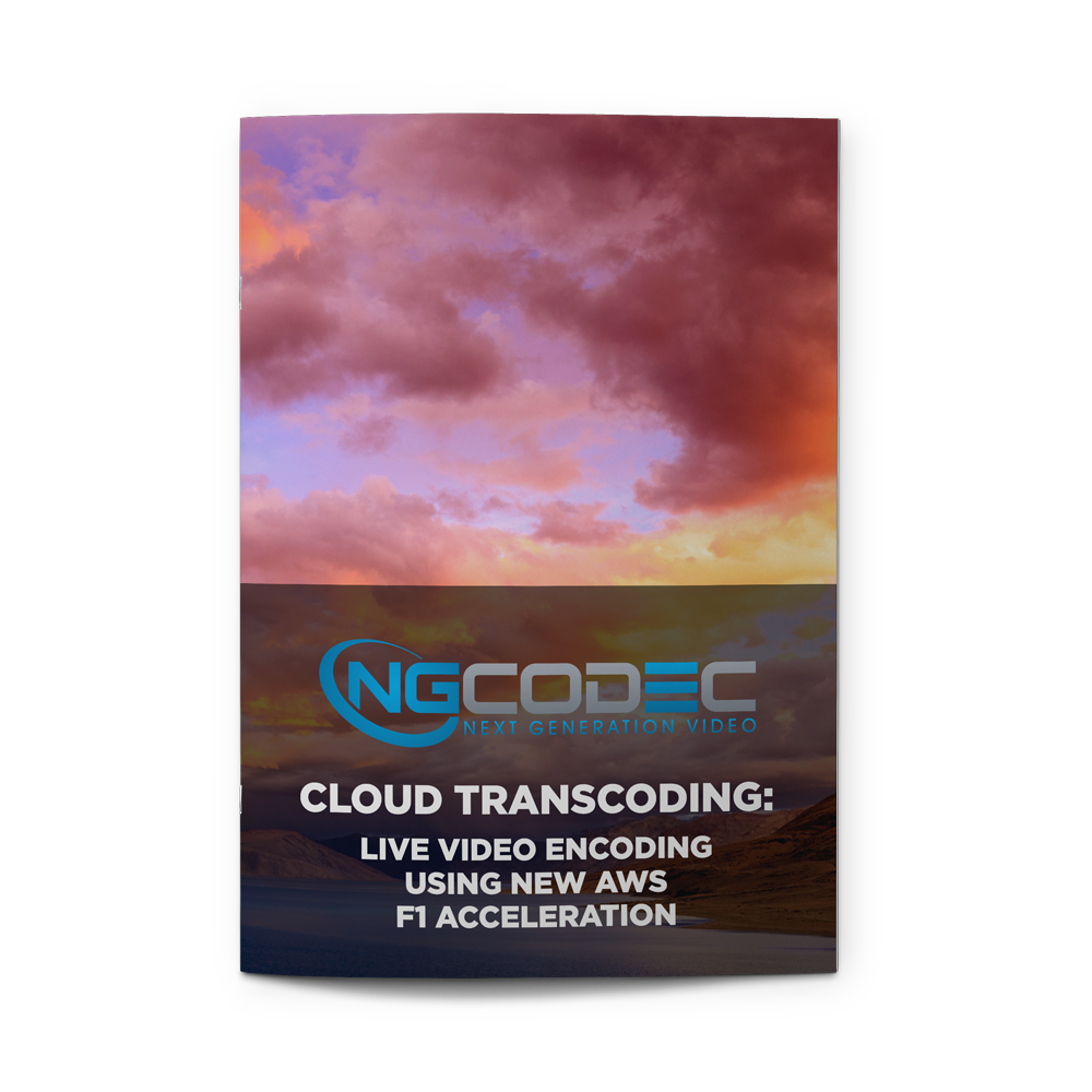 - Cloud Transcoding: Live Video Encoding Using New AWS F1 AccelerationBROUGHT TO YOU BY NGCODECDownload White Paper