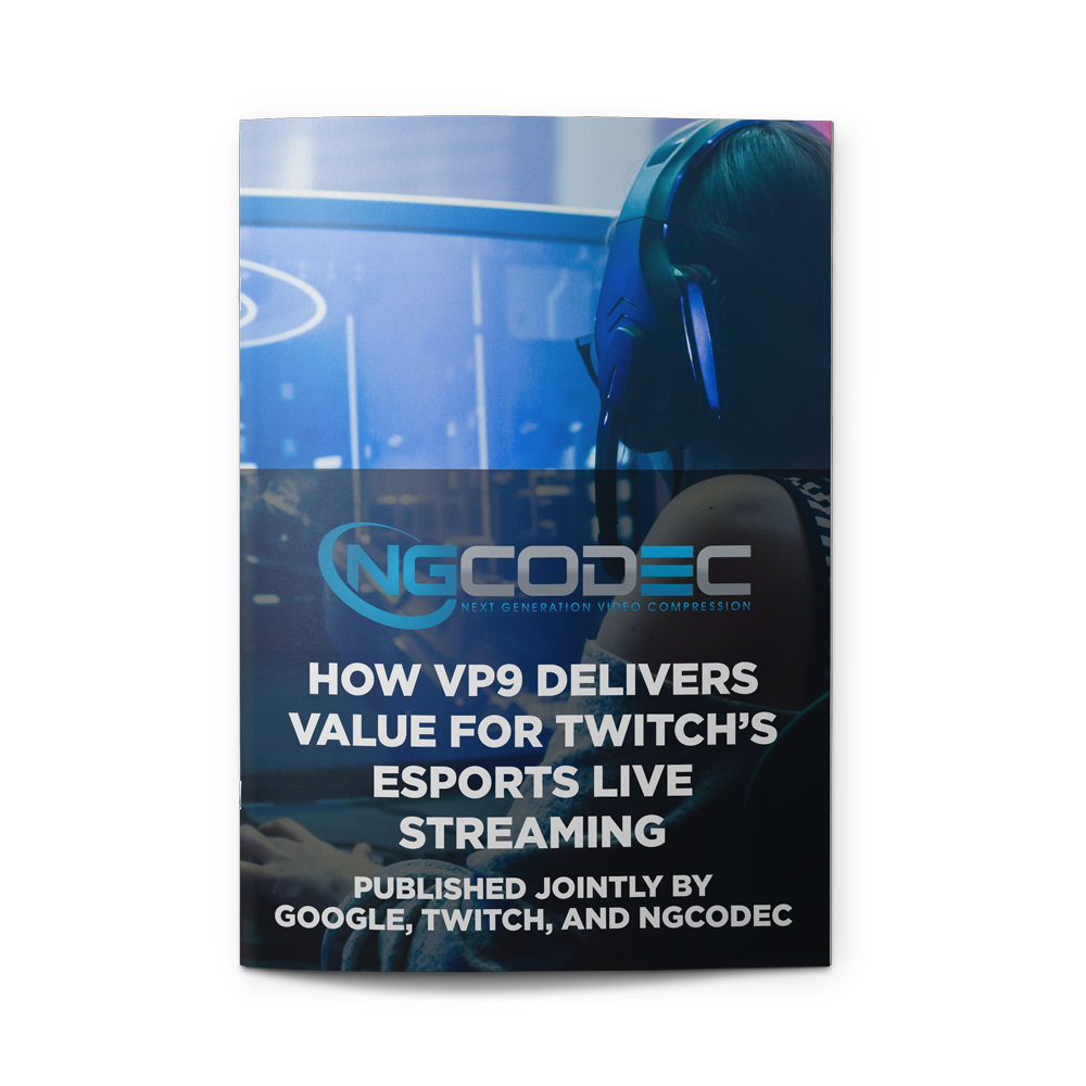 - How VP9 Delivers Value For Twitch's Esports Live StreamingPUBLISHED JOINTLY BY GOOGLE, TWITCH, AND NGCODECLink to Blog on Twitch.TV