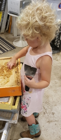 Our littlest helper.