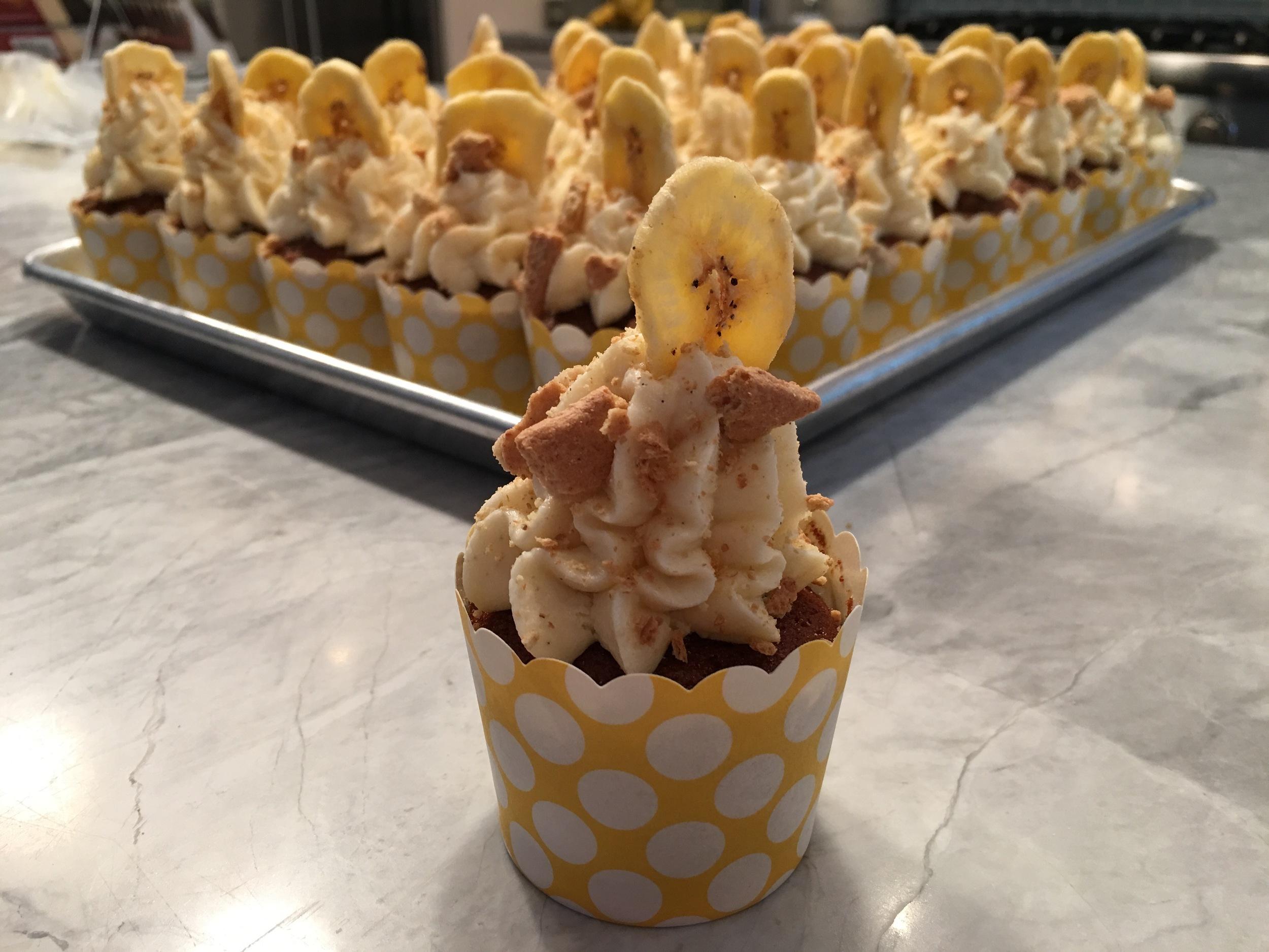 Banana cream pie cupcake.