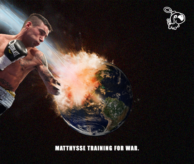 Lucas Matthysse training for his next big fight: Planet demolition.