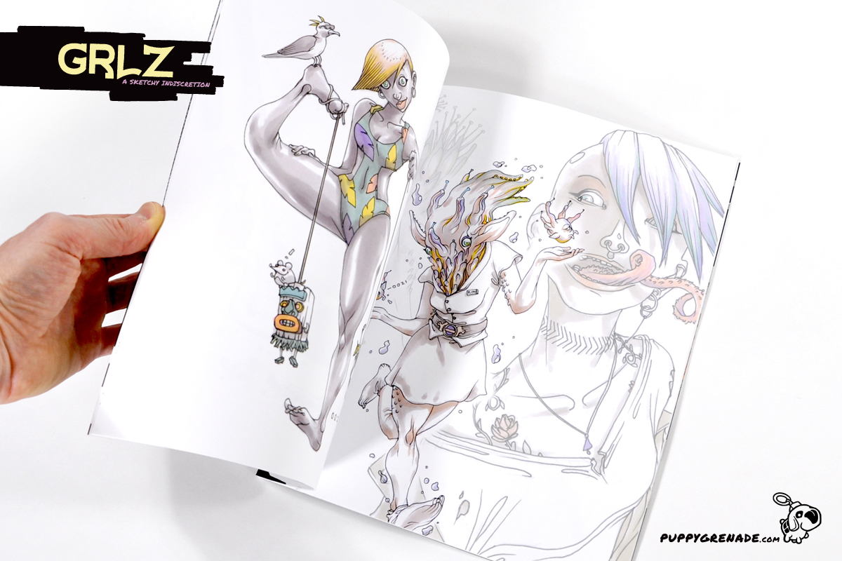 Grlz: A Sketchy Indiscretion By Oh! Oozi (Art Book, Interior)