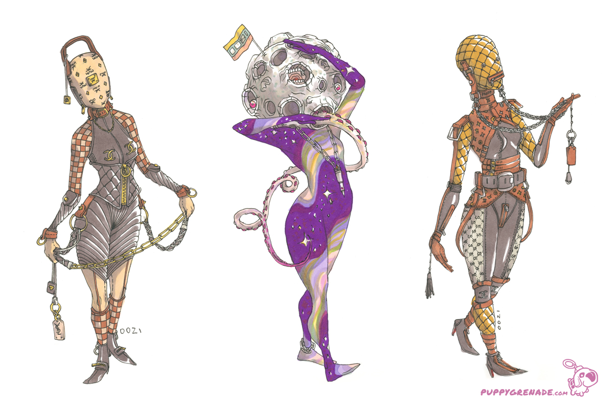 luxury Models & Space Personified By Oh! Oozi (Art Book, Details)