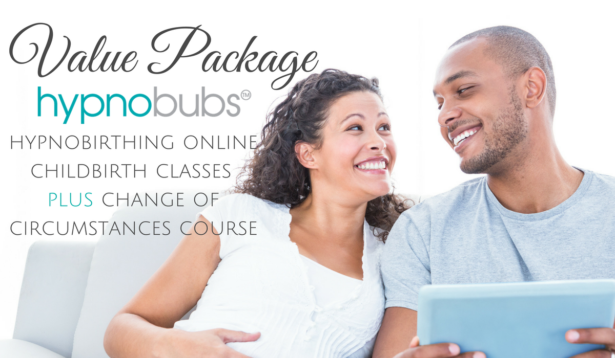 Value Package - This option is ideal if you are aiming for a natural birth but wish to be prepared and have resources on-hand should you need a caesarean birth. This package covers you well for either scenario and covers the Hypnobubs online childbirth course AND the change of circumstances (positive cesarean) course for a special value package price.Includes:• comprehensive video sessions with Melissa Spilsted including step-by-step tuition and practical exercises (for you and your birth partner) for the Hypnobubs Online course PLUS the Special Circumstances course• 8 X long play mp3 tracks•2 x eBooks - 'the little book of hypnobirthing' and 'the positive cesarean birth'•Downloadable resources & worksheets•Online support